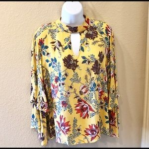 Angie Long Sleeved Floral Tunic